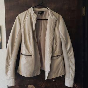 Bagatelle faux leather tan moto jacket L
